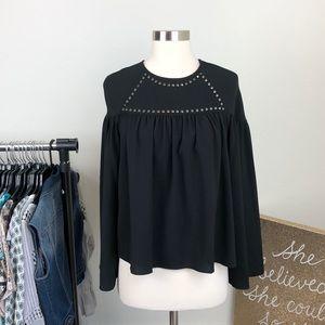 H&M black studded top